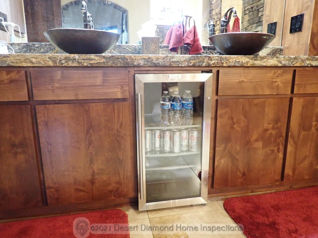 Bathroom beer fridge