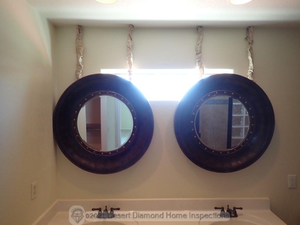 That's a bold choice for bathroom mirrors
