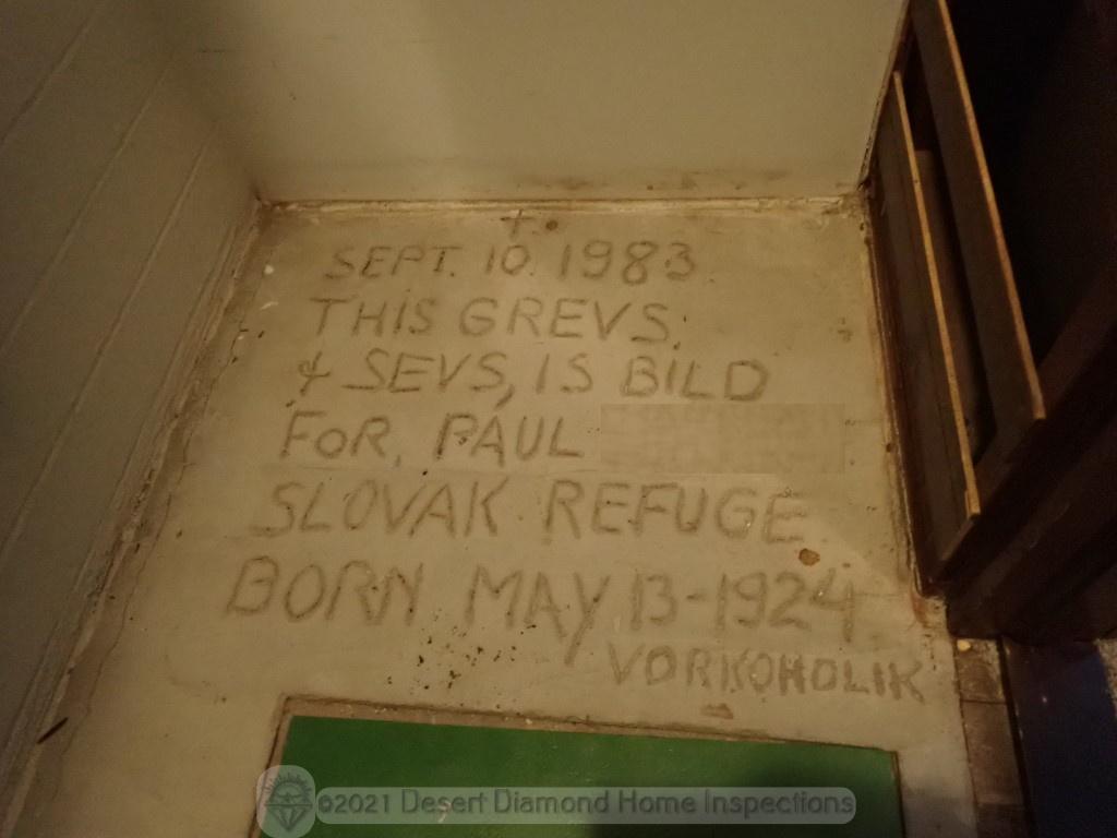 Closet concrete message