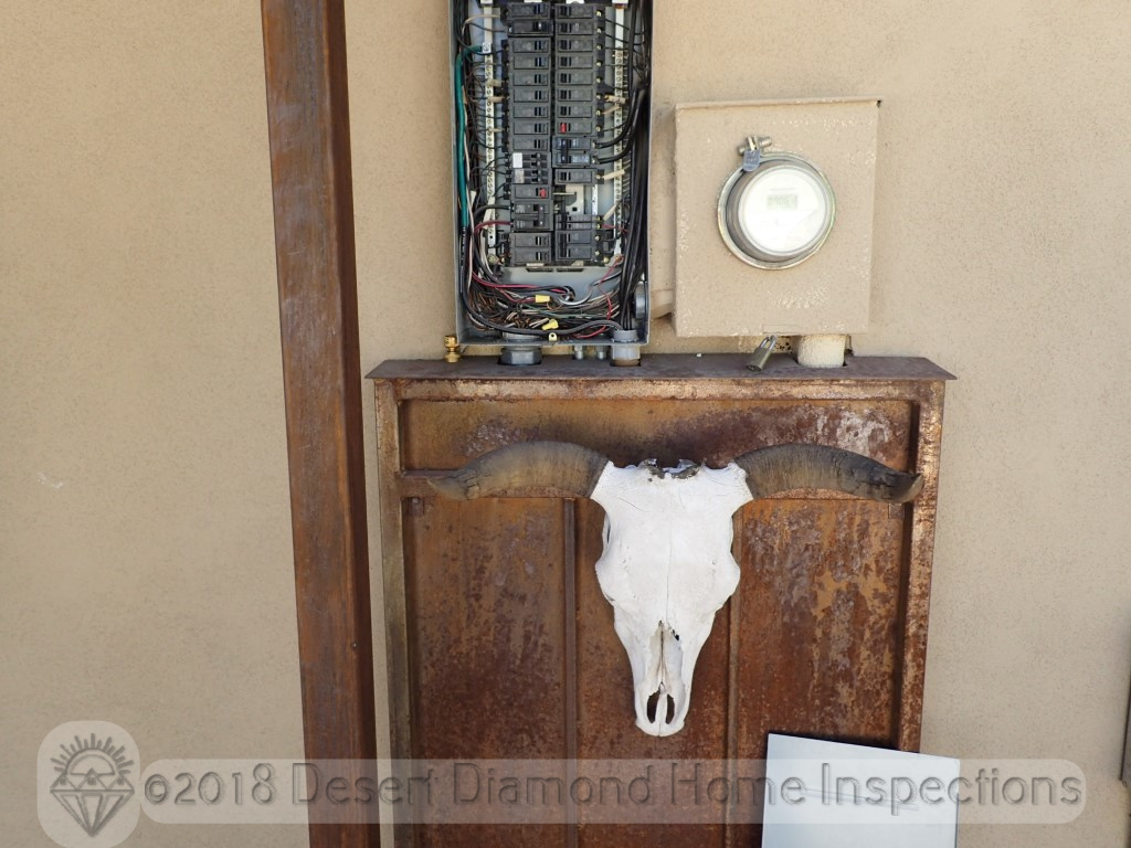 Home inspections can be dangerous. There is a good chance you could get gored while inspecting the electrical panel.