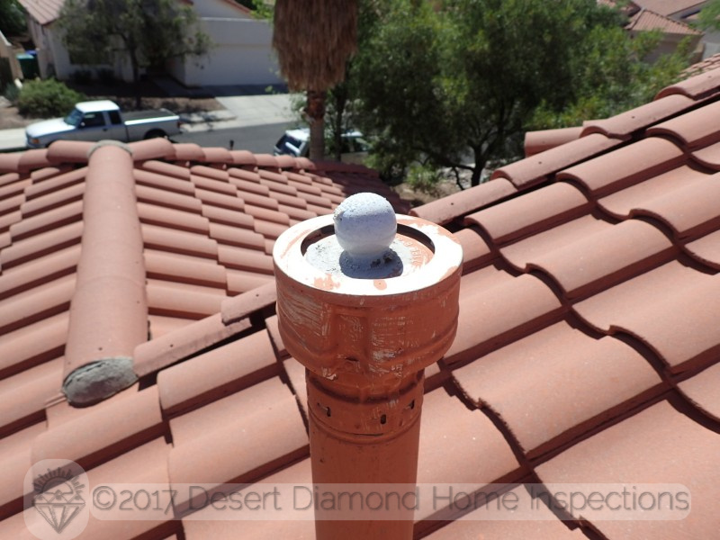 We have no idea why somebody glued a golf ball to a vent pipe cap
