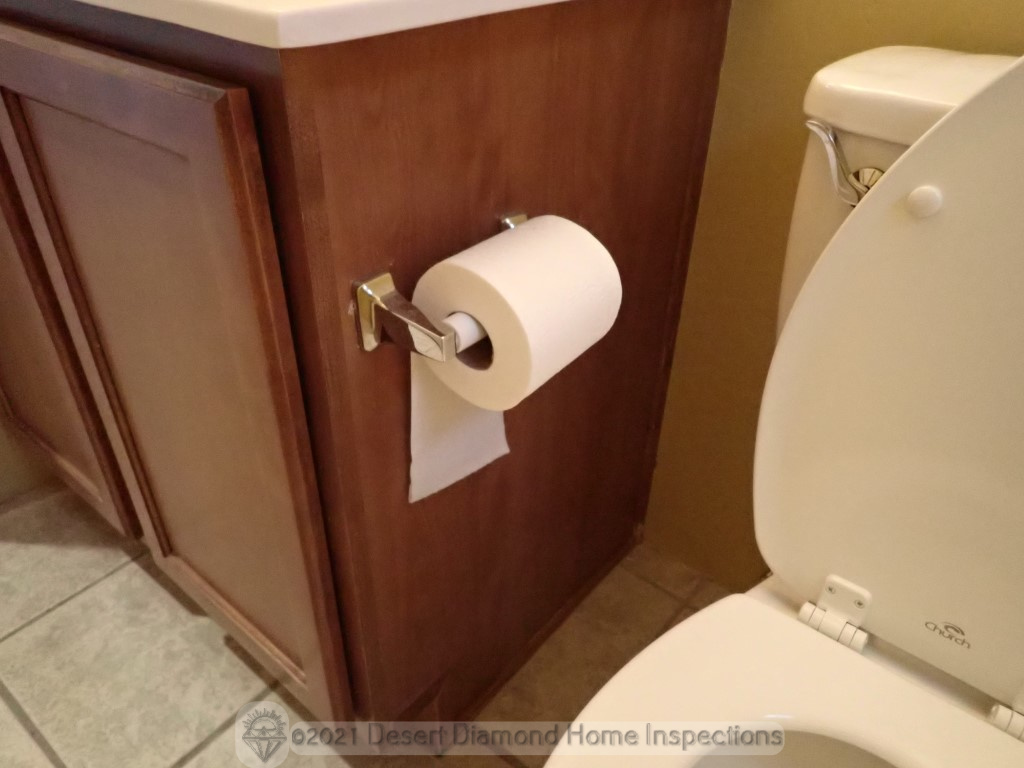 Major defect: This roll of toilet paper is installed incorrectly
