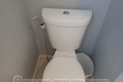 A budget variation of the bidet: Hose with a hand sprayer to clean your butt