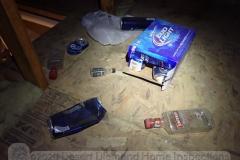 Secret booze stash found in attic over garage