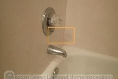 Leaky shower diverter