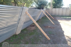 This fence might have a structural problem