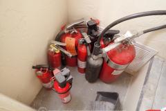 Fire extinguishers hidden in garage