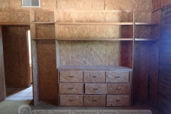 Not only were many of the walls covered in OSB, they even built a dresser out of OSB!