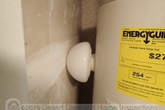 If your water heater is leaning, would you fix the pedestal or prop it up with a fragile glass object?
