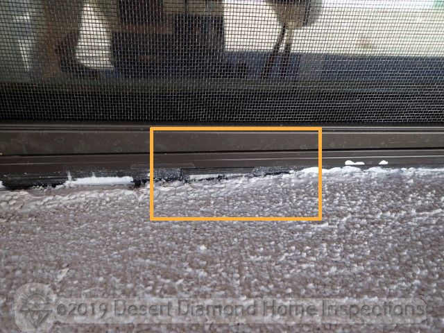 Blocked window frame weep hole