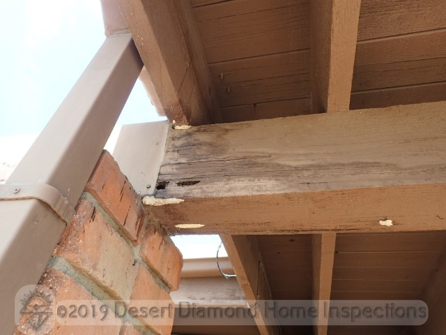Damaged beam