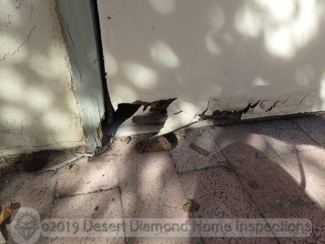 Moisture damaged door