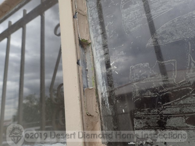 Damaged window glazing