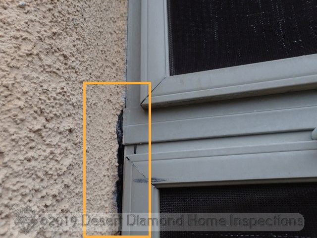 Gap at exterior window frame