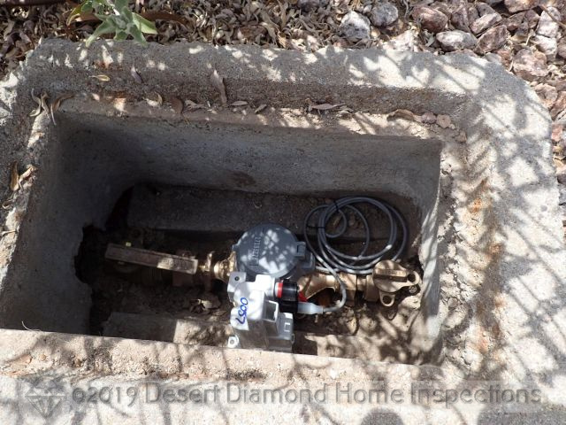 Main water shut-off at water meter