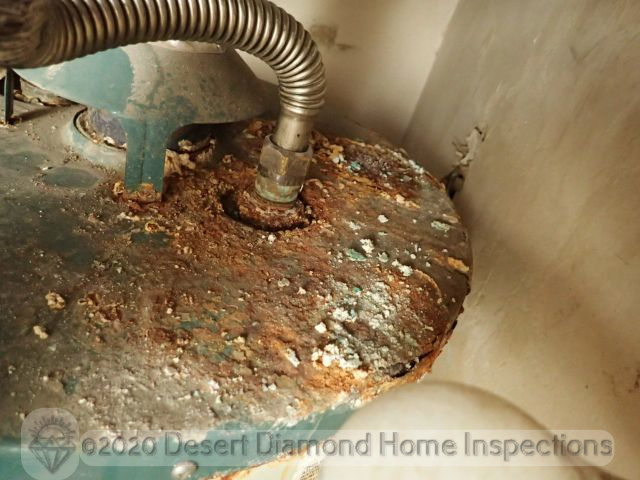 Rust at water heater