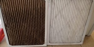 Dirty vs. clean air filter