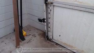 Garage door safety sensors mounted too high