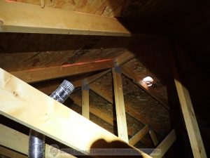 Disconnected vent in attic
